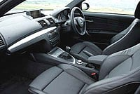 BMW one series coupe interior